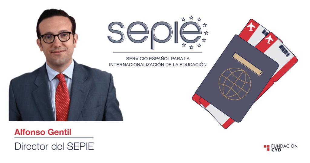 El director del SEPIE, Alfonso Gentil, valora la internacionalización del sistema universitario.